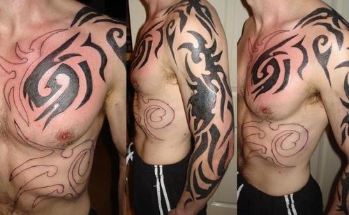 free tribal shoulder tattoos for men
