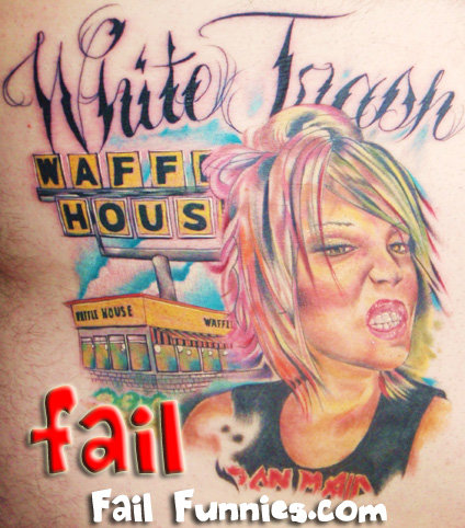 white trash tattoo. white trash tattoo.