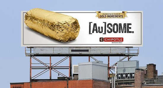 Chipotle Gold Burrito Wrapper