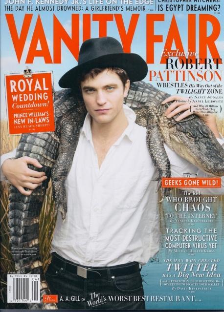 robert pattinson vanity fair cover 2011. From VanityFair.com