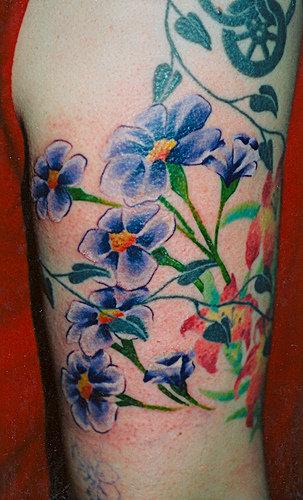 Violet Flowers Tattoos mispkemaci: Tattoos Of...
