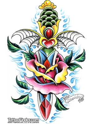 crazy tattoo facts old school tattoo flash. Black Bedroom Furniture Sets. Home Design Ideas