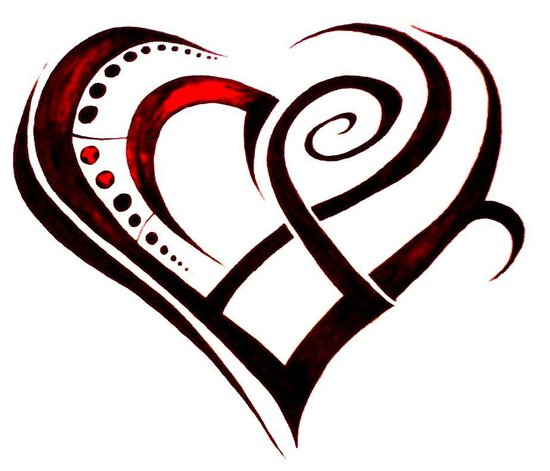 The Temptation News: Tribal Heart Tattoo Meaning
