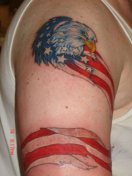american flag tattoos for men. Source