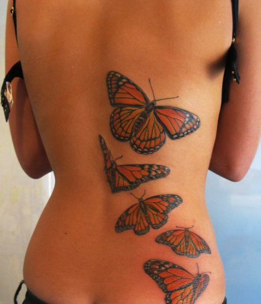 Colorful Butterfly Tattoo. Colorful Butterfly Tattoo