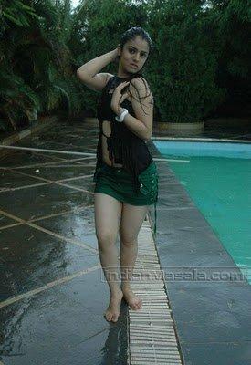 Shefali Sharma Pics Hot Exposure Wet Thighs, Navel and Panty peek