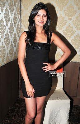 Sexy MASALA HOT ACTRESS Sayali Bhagat Spicy Hot Photos in black Short Dress