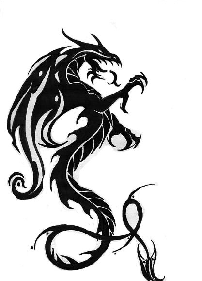 Welsh Dragon Tattoo. Tribal Tattoo Designs Dragon