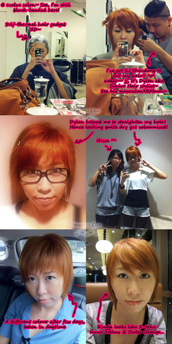 copper orange hair color. When I dye my hair yellow,