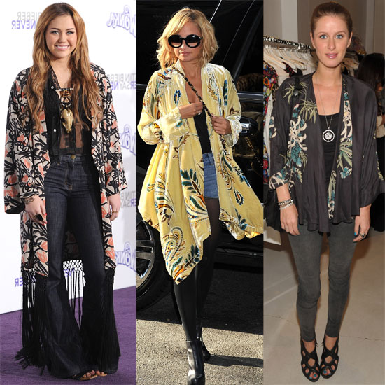 Nicole Richie, Nicky Hilton, and Miley Cyrus Wearing ...