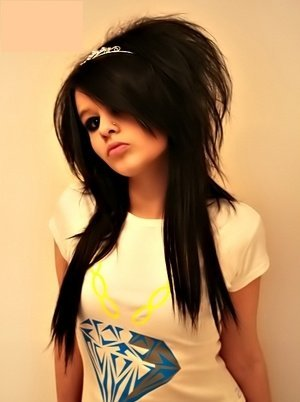 Black Emo Hairstyles for Girls