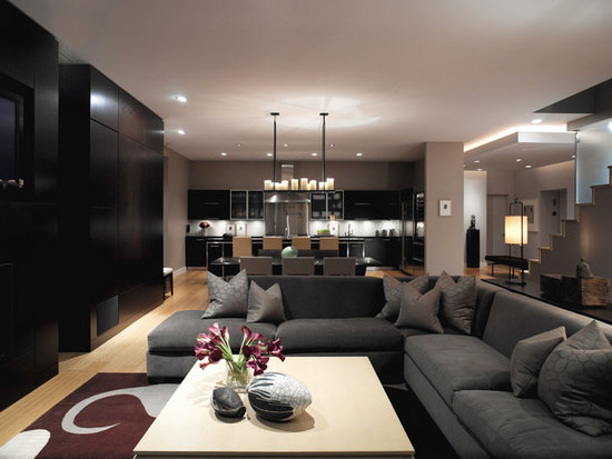pure design and modern technology living room interior design