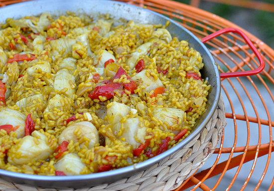 shrimp and scallop paella recipes dishmaps seafood paella with shrimp ...