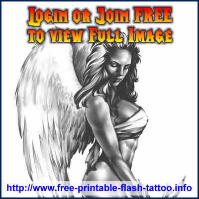 angel temporary tattoos. Temporary Angel Tattoo Design