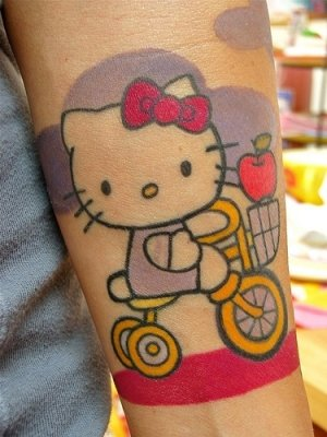 Pictures Of Hello Kitty Tattoos. hello kitty tattoos with