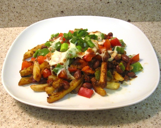 vegetarian chili cheese fries