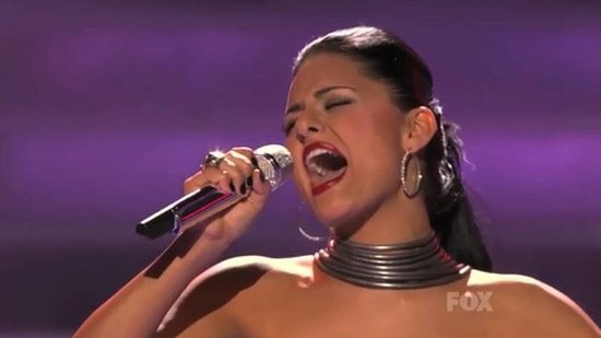 american idol 2011 pia toscano eliminated video. Pia Toscano#39;s shocking