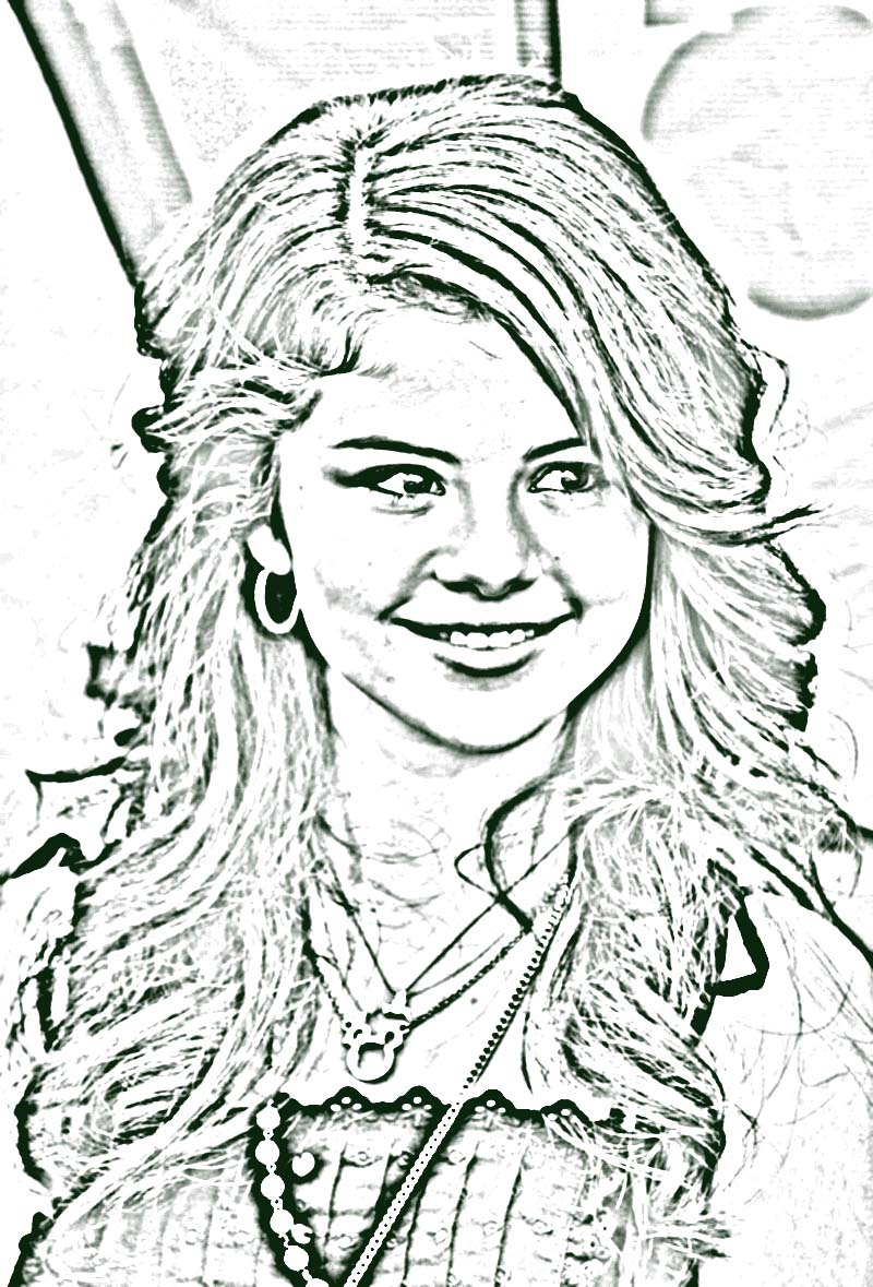 Selena Gomez Coloring Pages kids world
