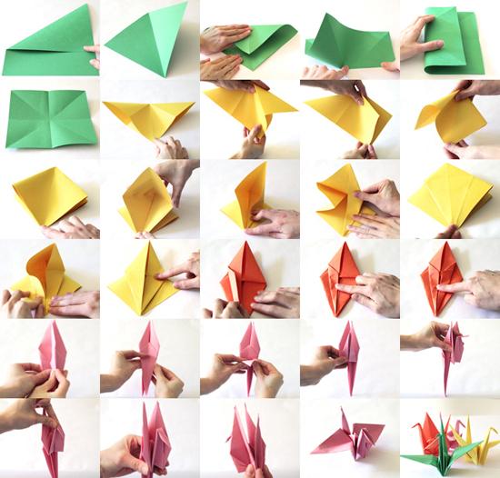 How to make paper cranes for japan relief popsugar moms for How yo make a paper crane