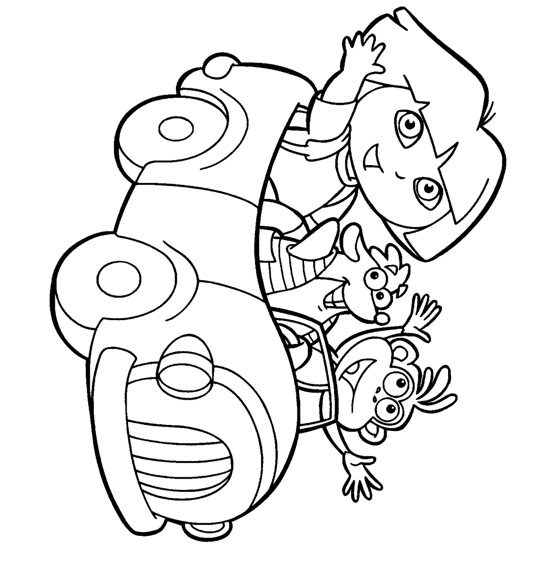 Dora coloring pages for kids become one of the cute figures to