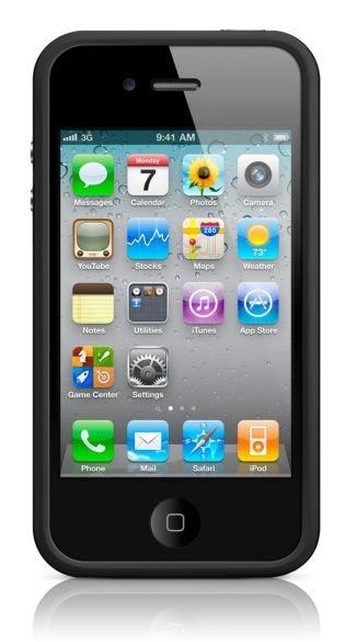black iphone 4 white bumper. Apple Iphone 4 White Bumper