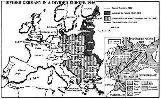 world war 2 map of asia. POST WORLD WAR 2 MAP OF EUROPE