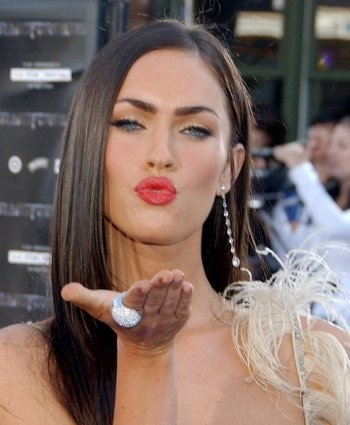 megan fox plastic surgery lips. hair Is Megan Fox wearing a