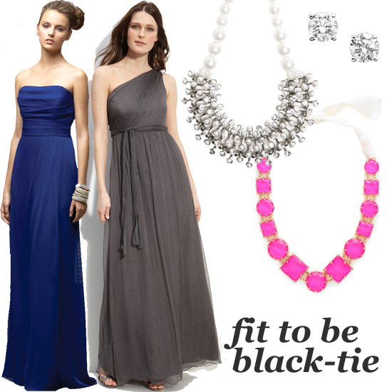 what to wear to a black tie event weddings galas and more popsugar fashion. Black Bedroom Furniture Sets. Home Design Ideas