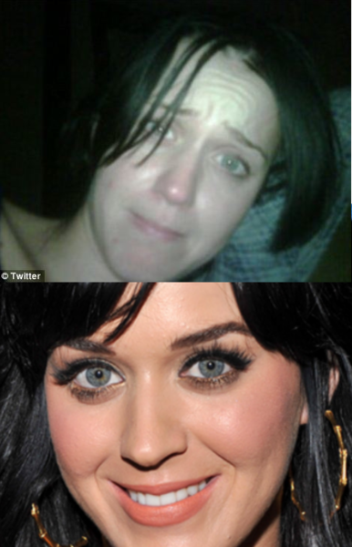 katy perry no makeup twitter. Katy Perry No Makeup Tweet.