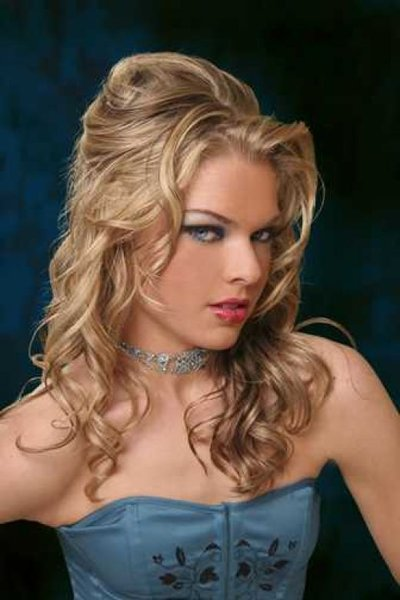 prom updos for curly hair 2011. Homecoming curly updo