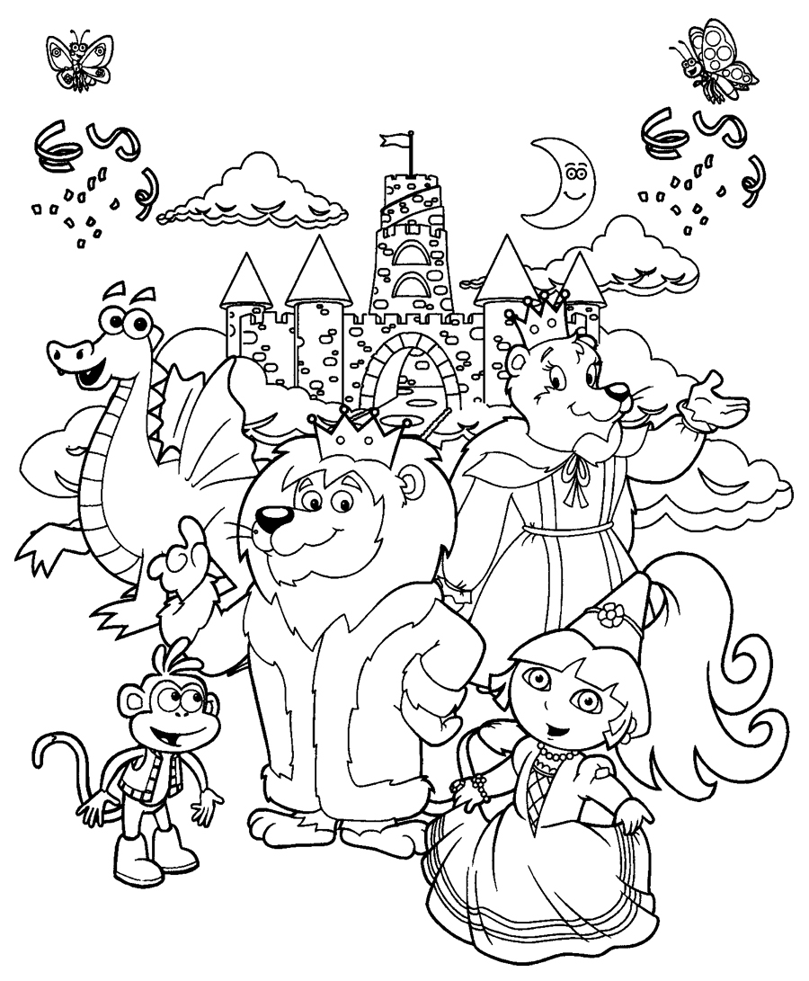 coloring pages dora princess - photo#14