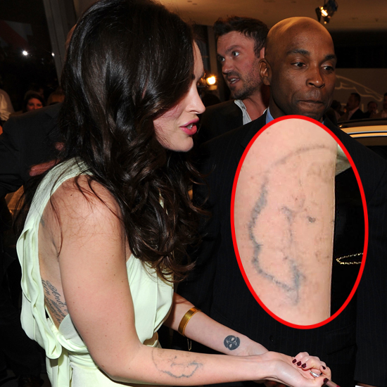 megan fox tattoos what they say. Looks like Megan Fox is losing