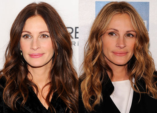 julia roberts hair colour. Julia Roberts switched up her