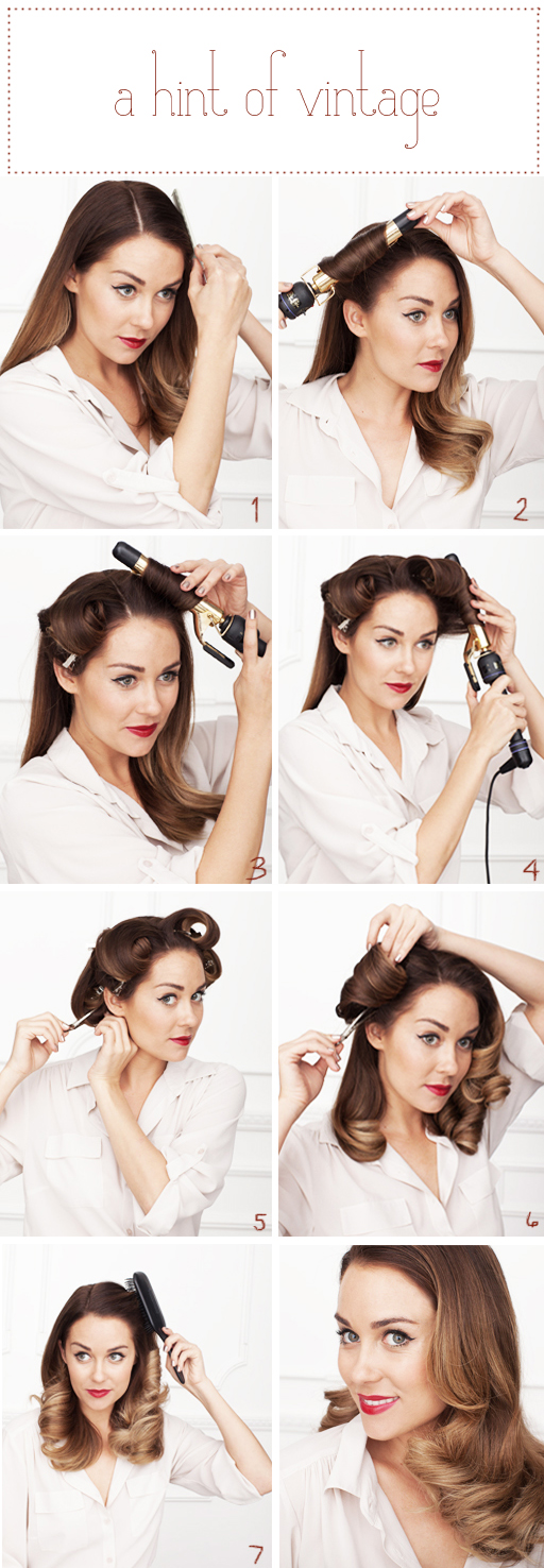 Lauren Conrad's The Beauty Department Hair Tutorial for Vintage Waves