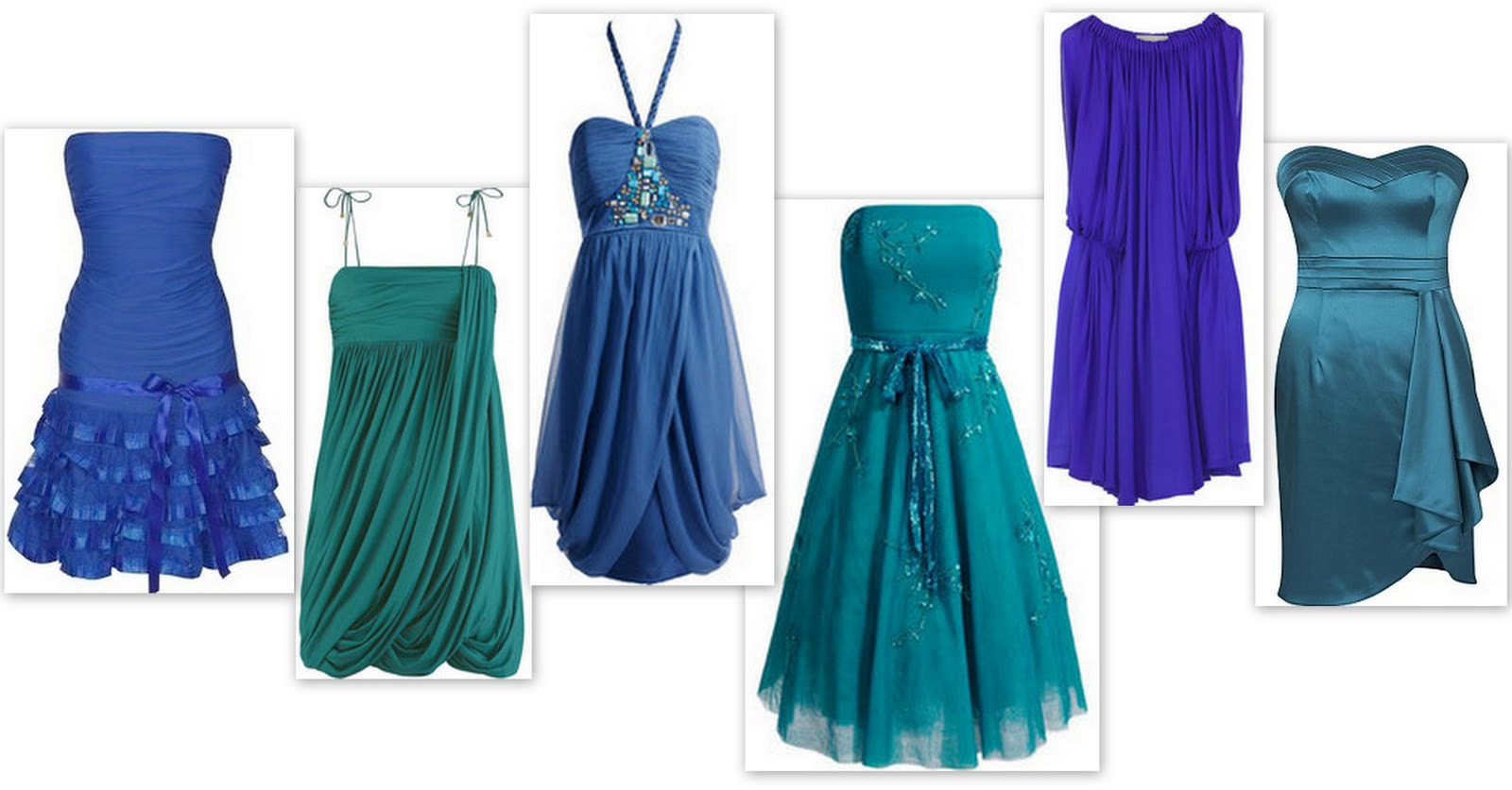 Peacock blue bridesmaid dresses re are already using