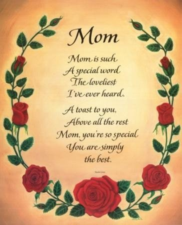 quotes for mothers birthday. short happy mothers day poems.