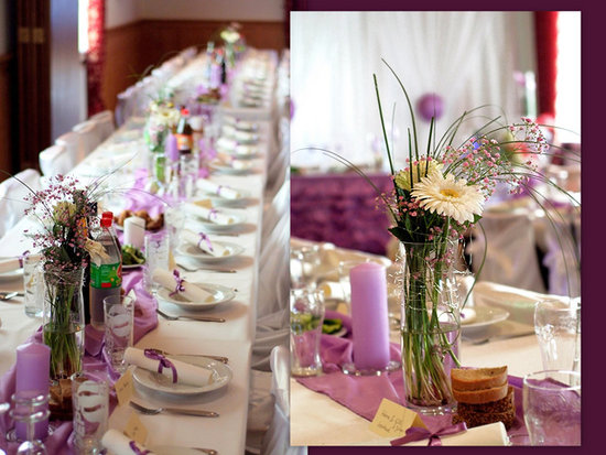 Ideas for wedding table decorations romantic decoration for Cheap decorating ideas for wedding reception tables