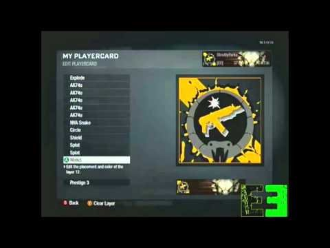cool black ops player card ideas. lack ops emblems cool. lack