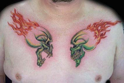 mexican day of dead skull tattoo. day of dead skull tattoos.