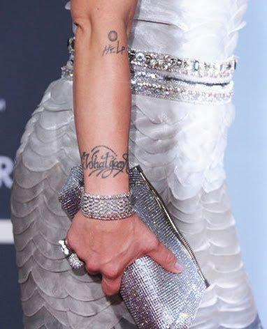 pink tattoo. Celebrity pink tattoo designs