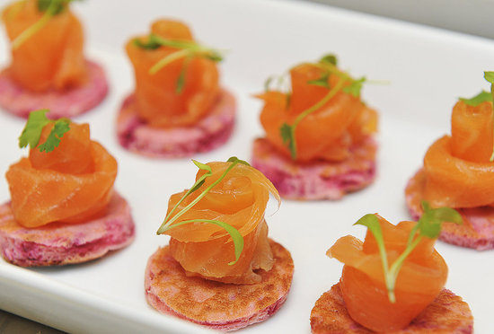 Royal wedding menu popsugar food for Smoked salmon roulade canape