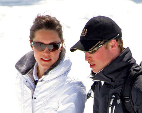 william and kate skiing photo. Prince William Kate Middleton