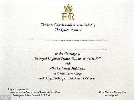 kate middleton and prince william wedding invitations. prince william katie. is kate