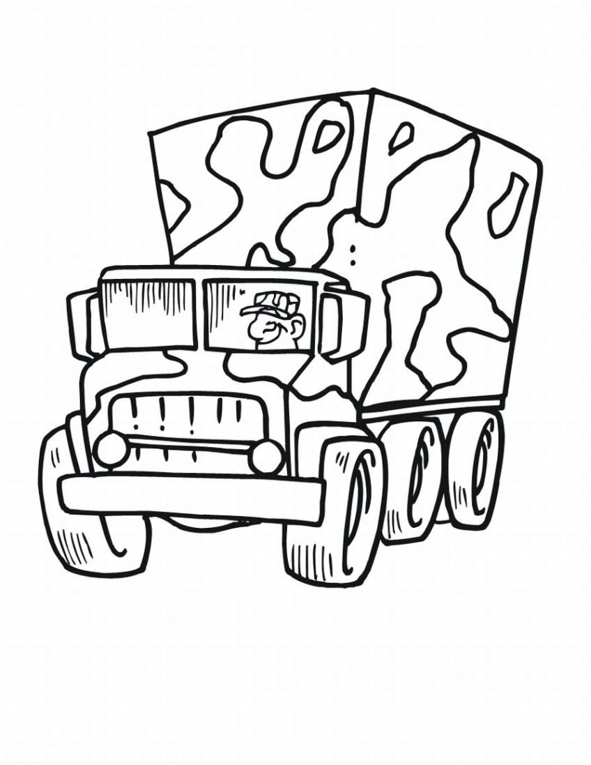 Military coloring pages kids world for Free army coloring pages