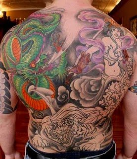 tribal dragons tattoo gallery, dragon tattoos designs