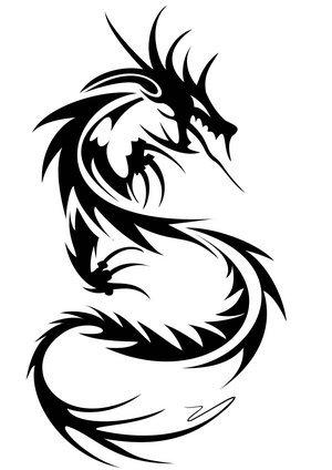 tribal dragon tattoo designs. tribal dragon tattoo design