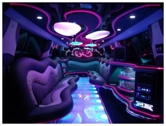 Hummer H2 Limousine  reservation of limousinePink Hummer Limo Inside