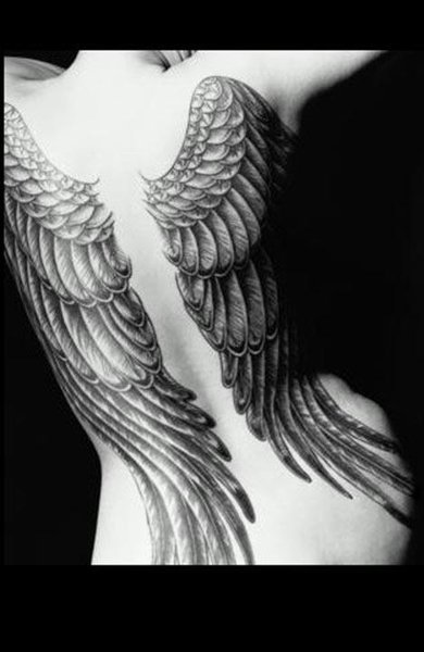 tribal tattoos of angel wings tattoos angel wing tattoos
