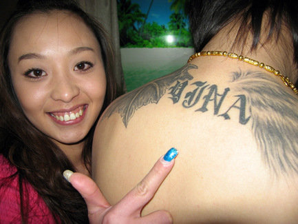 letter m tattoos. china-tattoo