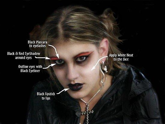 emo makeup designs. goth makeup designs.